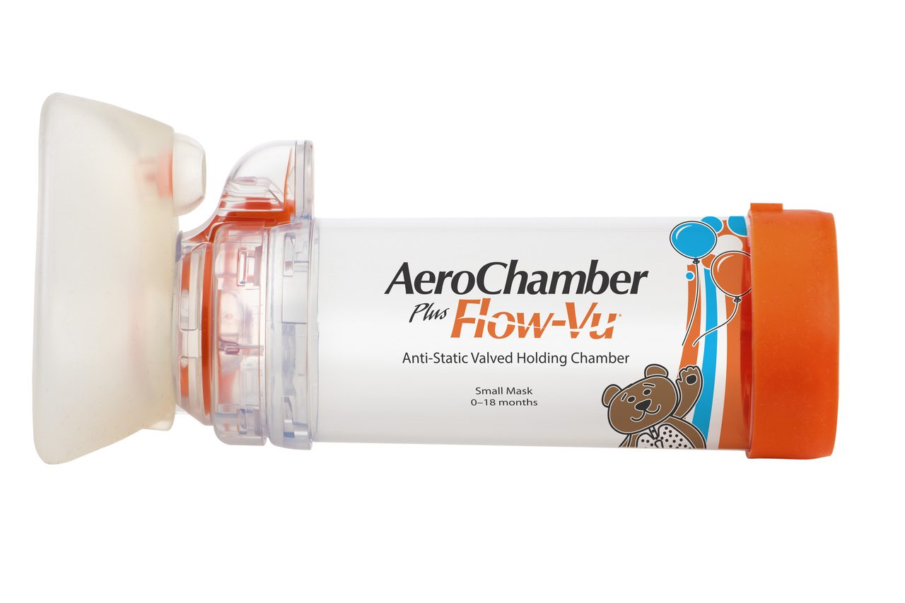 Orange Aerochamber Plus spacer device,Infant,small face mask 0-18 months by Spacer Device